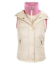 Contrast Knitted Collar Winter Gilet