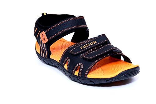 Fuzion Men's Orange Sandal - 7 UK  available at amazon for Rs.498