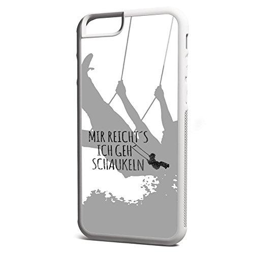 Smartcover Case Mir reichts z.B. für Iphone 5 / 5S, Iphone 6 / 6S, Samsung S6 und S6 EDGE mit griffigem Gummirand und coolem Print, Smartphone Hülle:Samsung S6 EDGE weiss Iphone 6 / 6S weiss