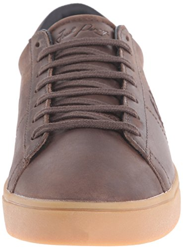 Fred Perry Mens Brown Spencer Leather Trainer Dark Chocolate