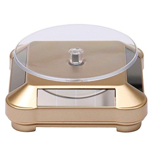 Gazechimp XRF-038 360°Solar Drehteller Präsentierteller Handy Uhr Schmuck Display 2-4 Kreise/Min