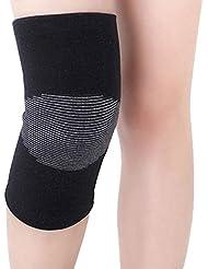 WinCret Sport Brace genou pour les douleurs articulaires et de secours de l'arthrite - Soutien au genou pour la course, Randonnée, Camping, Tir, Arts martiaux - charbon de bambou et coton fibre - 1 paire