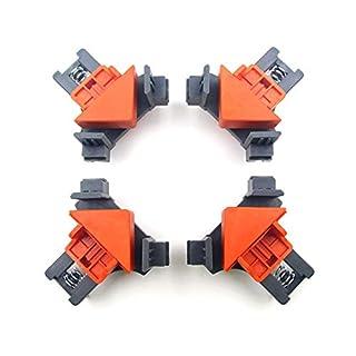 Asdomo 90° Winkelklammern 4er Set Multifunktions Eckklammer Fixer Werkzeug Verstellbare Schwingecke Klemme Eckklemme Eckklemme für Schweißen, Holzarbeiten, Dübeln, Fotorahmen