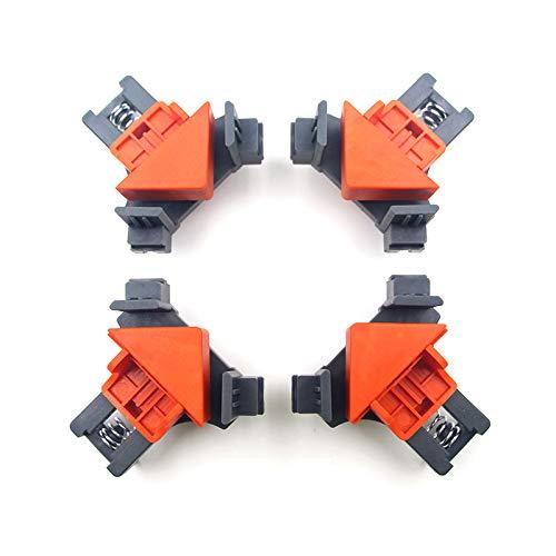 Cozyhoma 90 Grad Winkel-Klemmen, 4 Stück rechtwinklige Befestigungs Clip, verstellbare Schwing-Eck-Klemme für Holzarbeiten, Bohren, Fotorahmen DIY Handwerkzeuge