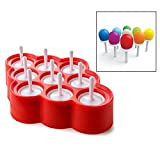 Itian Mini Stampi per Gelato in Silicone per 9 DIY Ghiaccioli per Bambini