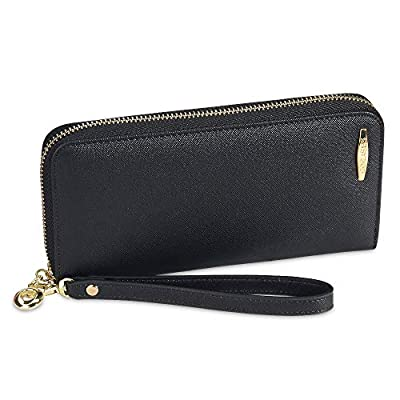 COCASES RFID Wristlet Ladies Purse PU Leather Wallet