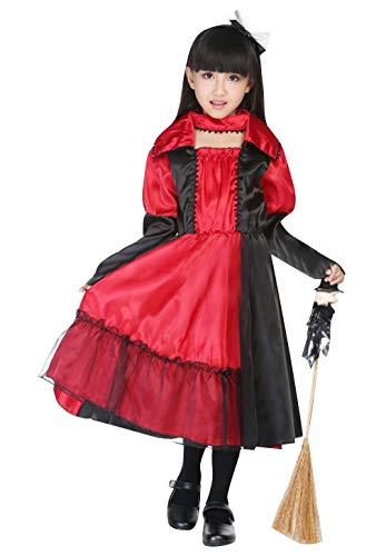 Cloud Kids Kleiner Teufel Kostüm Mädchen Karneval Fasching Halloween Cosplay Verkleidung Kinderkostüm (Größe M, Rot)
