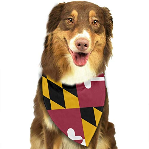 Osmykqe Dog Bandanas Flag of Maryland Dog Collar Neckerchief Pet Bandana Puppy Towel