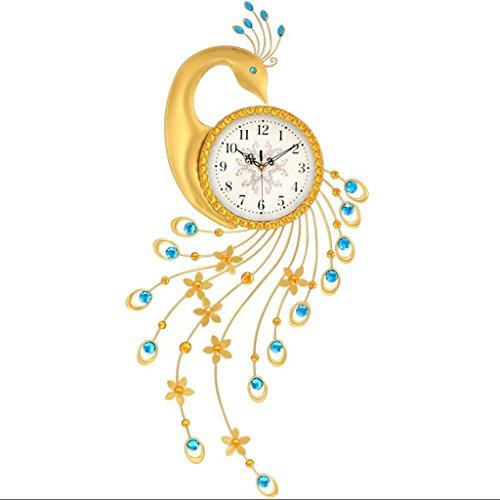 ZLR Mute De Mode Créative Horloge Murale Salon Moderne Horloge Décorative Mute Horloge à Quartz Paon Pendaison Horloge ( taille : B-104*43cm )