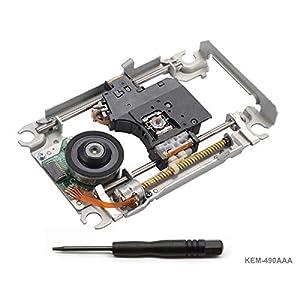 PS4 Blu-ray Laser mit Schiene KEM-496AAA – Ersatz Laufwerk DVD Laser Lens Rahmen/Schlitten/Deck und KES-496 Optical Head…