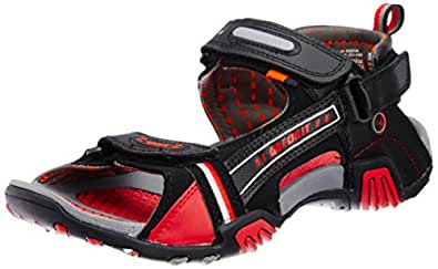Sparx Men's Black and Red Athletic & Outdoor Sandals - 10 UK (SS0430G)