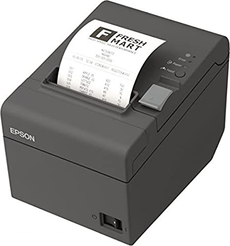 Epson TM-T20II Imprimante ticket de caisse thermique USB, Ethernet, 8points/mm (203dpi) Noir Avec bloc d'alimentation, câble d'alimentation (UE) et support mural inclus