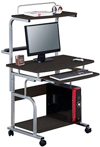 Techly scrivania per computer compatta multifunzione, nero lucido (ica-tb 7800bk)