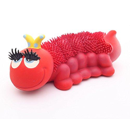 Naturkautschuk Kleinkindspielzeug Motorikspielzeug HEADY die Raupe (Rot)