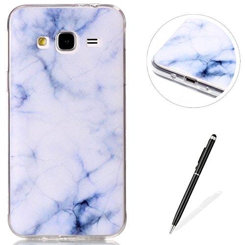 iPhone 5/5S case, Magqi cover posteriore di protezione in silicone, resistente ultra sottile in gel TPU custodia bumper [Crystal Clear] con design alla moda stile Sockproof anti-scratch Drop protezion White Marble
