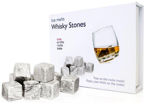 """9er Set Whisky-Steine aus natürlichem Speckstein Whiskysteine für Getränke """"on the rocks"""" Eiswürfel Kühlsteine von der Marke PRECORN"""