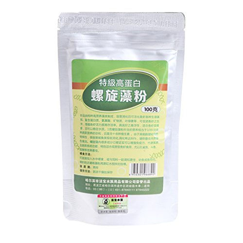 Dabixx 50g100g Spirulina Pulver Natürliche Gesundheit Lebensmittel Organische Nährstoff Pure Antistrahlung 100g (Gewichts-verlust 100% Natürliche)