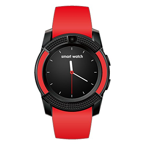 HealthMax HT V8 Red Smartwatch Compatible With Huawei G Play Mini Mobiles