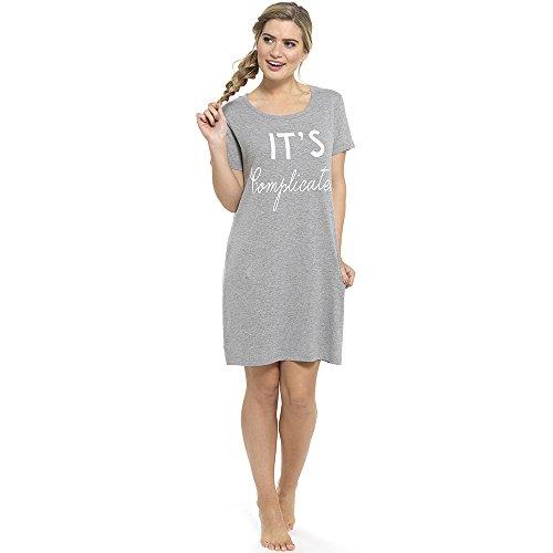 Tom Franks - Chemise de nuit - À logo - Femme Gris