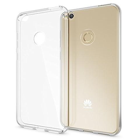 Huawei P8 Lite 2017 Hülle Handyhülle von NICA, Soft Slim Silikon Case Cover Crystal Clear Schutzhülle Dünn Durchsichtig, Etui Handy-Tasche Backcover Transparent, Phone Schutz Bumper für P8-Lite