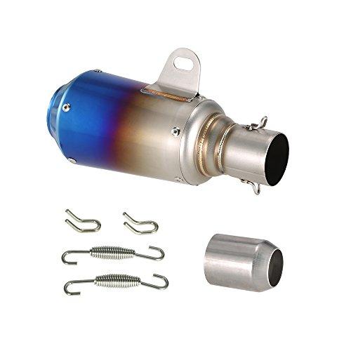 Kkmoon 51mm scarico del silenziatore in fibra di carbonio marmitta con glassa di superficie coda del tubo per moto atv universale, 6 stile