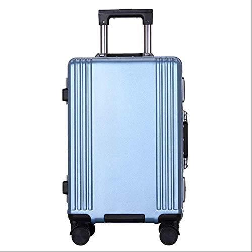 Muysmy Tragen auf Handgepäck, Hard Shell Travel Leichte Kabine Koffer mit 4 Rad und TSA Lock 20' eisblau
