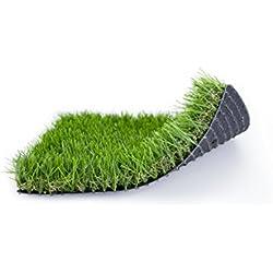 Césped artificial de gran calidad y suavidad ideal para jardines EVERT GRASS Life 37mm (Rollo césped de 1 m ancho x 4 m de largo)
