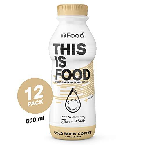 Yfood coffee, pasto pronto da bere | pasti sostitutivi senza glutine né lattosio | 34 g di proteine, 26 vitamine e minerali |25% del fabbisogno calorico giornaliero | 12 x 500 ml (1 kcal/ml)
