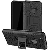 Prime Retail Shockproof Kickstand Back Case Cover for Samsung Galaxy M31 - Black