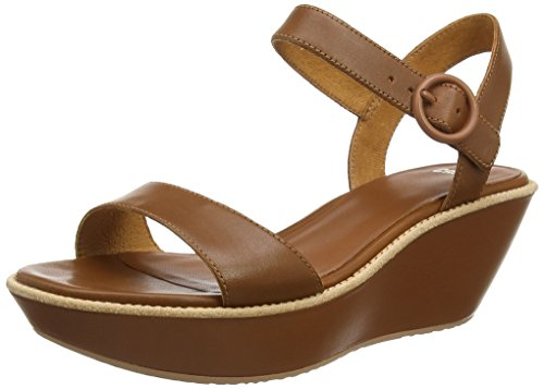 Camper Damas - Sandali con Zeppa Donna, Marrone (Brown 032), 39.5 EU
