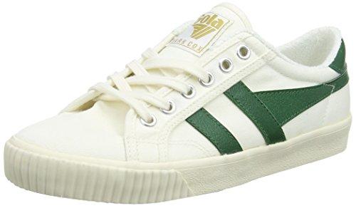 Gola Damen Tennis Mark Cox Off White/dk.Green Sneaker, Weiß Wn, 37 EU Damen Mark
