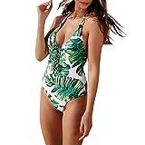 NPRADLA Damen Mädchen Kombinierter Body Badeanzug Pure Color Frenulum Bikini