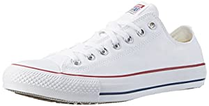 Converse Converse Sneakers Chuck Taylor All Star M7652, Unisex-Erwachsene Sneakers, Weiß (Optical White), 43 EU (9.5 Erwachsene UK)