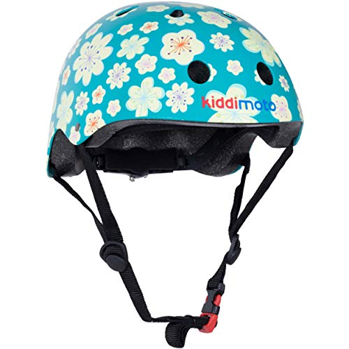 KIDDIMOTO KMH068M - Fahrrad Skater Helm für Kinder Fleur, Gr.M (5-14 Jahre)