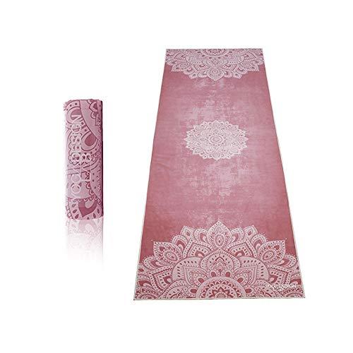 Yoga Design Lab Hot Yoga Handtuch | rutschfest, leicht, recyceltes, saugfähiges Mikrofaser Yogahandtuch | schnelltrocknend, waschmaschinenfest (Mandala Ginger)