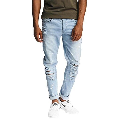 DEF Herren Jeans / Antifit Used Blau