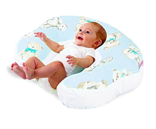 Love2Sleep BABY FEEDING/ NURSING PILLOW HOLLOWFIBRE FILLED FOR COMPLETE SUPPORT: TEDDY BEAR