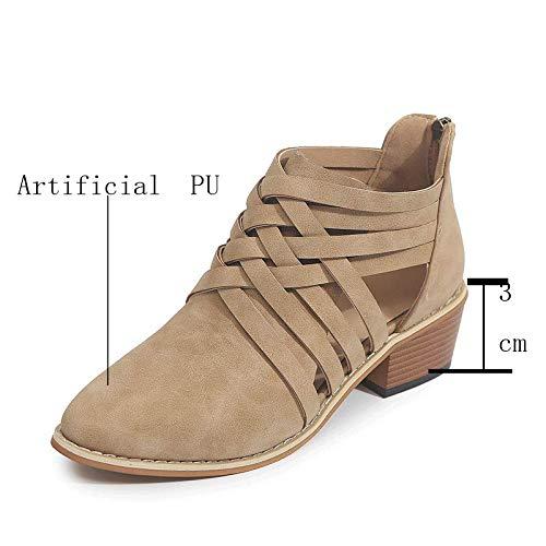 Sandals Verano Tacón Alto Cuña Alpargatas Sandalias,Plataformas Abierta Zapatos Mujer Cuero Punta...