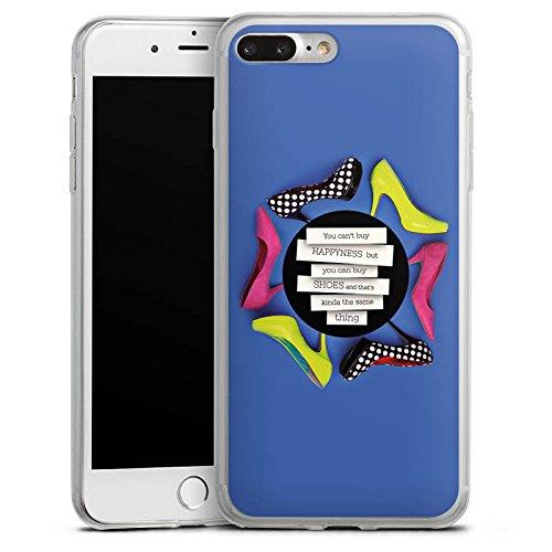 Apple iPhone 8 Plus Slim Case Silikon Hülle Schutzhülle Schuhe Schuhtick Shopping Silikon Slim Case transparent