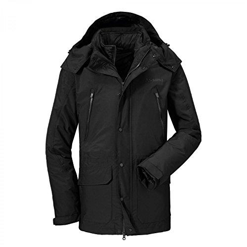 Schöffel Herren 3in1 Jacket Cusco Jacke Schwarz