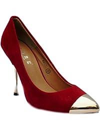 Mujer Ante Artificial Formal Zapatos De Salón