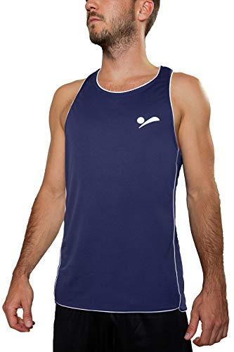 Beach Volleyball Apparel Herren Beachvolleyball Shirt Trikot Sport Tank Top TT100 - Dunkelblau - L