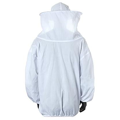 Bee Suit, OUTERDO Protective Beekeeping Veil Smock Beekeeper Suit Coat Jacket Equipment with Hat&Gloves 4