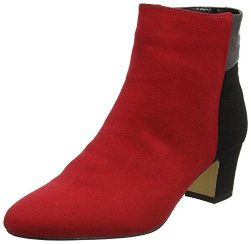 Lotus Women's Clara Boots, Red (Red Multi Micro), 7 UK 40 EU