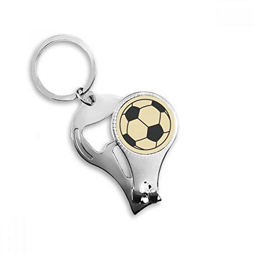 BeatChong Fußball-Sport-Linie Zeichnung Muster Schlüsselanhänger Ring Toe Nagelknipser Cutter Scissor Tool Kit Flaschenöffner Geschenk