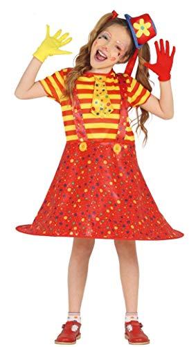 Fiestas Guirca Clown Kostüm Clowns kleines Mädchen