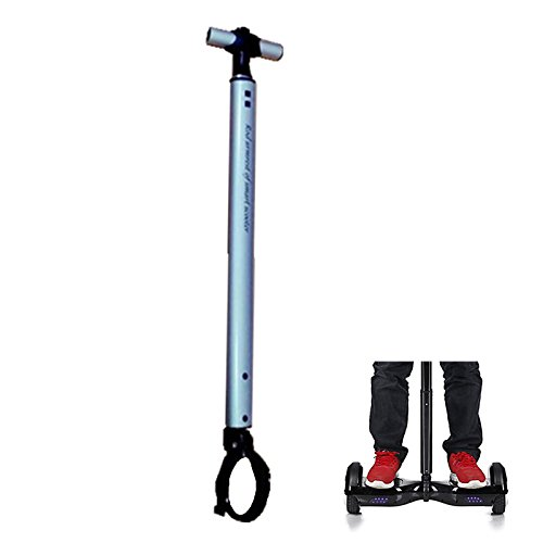 Locisne Stretchable Aluminiumlegierungs-Ausgleich-Roller-Handgriff-Stab, intelligentes Schwebeflug-Roller-Stützleder, Anfänger-elektrischer Hoverboard Halter Scooter Lenker Für 22cm Roller (Silber)