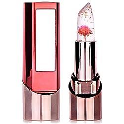 Jelly Lipstick Richoose longue durée de changement de couleur hydrater brillant fleur professionnel brillant excès de lèvres cosmétique avec un beau miroir pour la mode des femmes