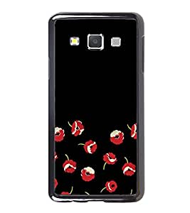 Fuson Designer Back Case Cover for Samsung Galaxy A5 (2015) :: Samsung Galaxy A5 Duos (2015) :: Samsung Galaxy A5 A500F A500Fu A500M A500Y A500Yz A500F1/A500K/A500S A500Fq A500F/Ds A500G/Ds A500H/Ds A500M/Ds A5000 (red Flowers Falling Flowers Beautiful Red Flowers Black Dropped Flowers)
