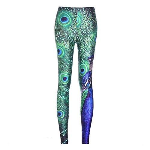Sexy Leggins Femmes Leggings Femme Pantalon Sexy hibote 3D Imprimer Galaxy Leggings Fitness Slim Vert